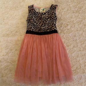Pink and leopard spots cute girls dress size 2🌸